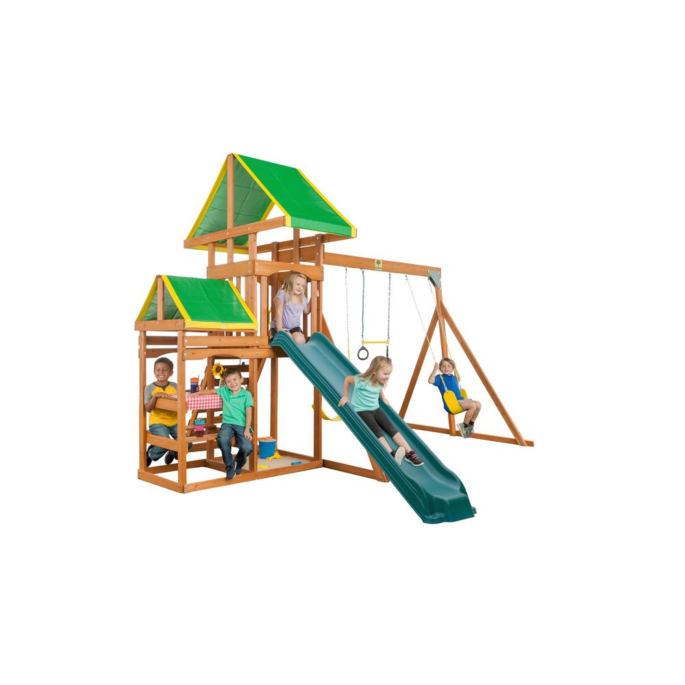Creative Cedar Designs Woodlands Complete Wooden Swing Set