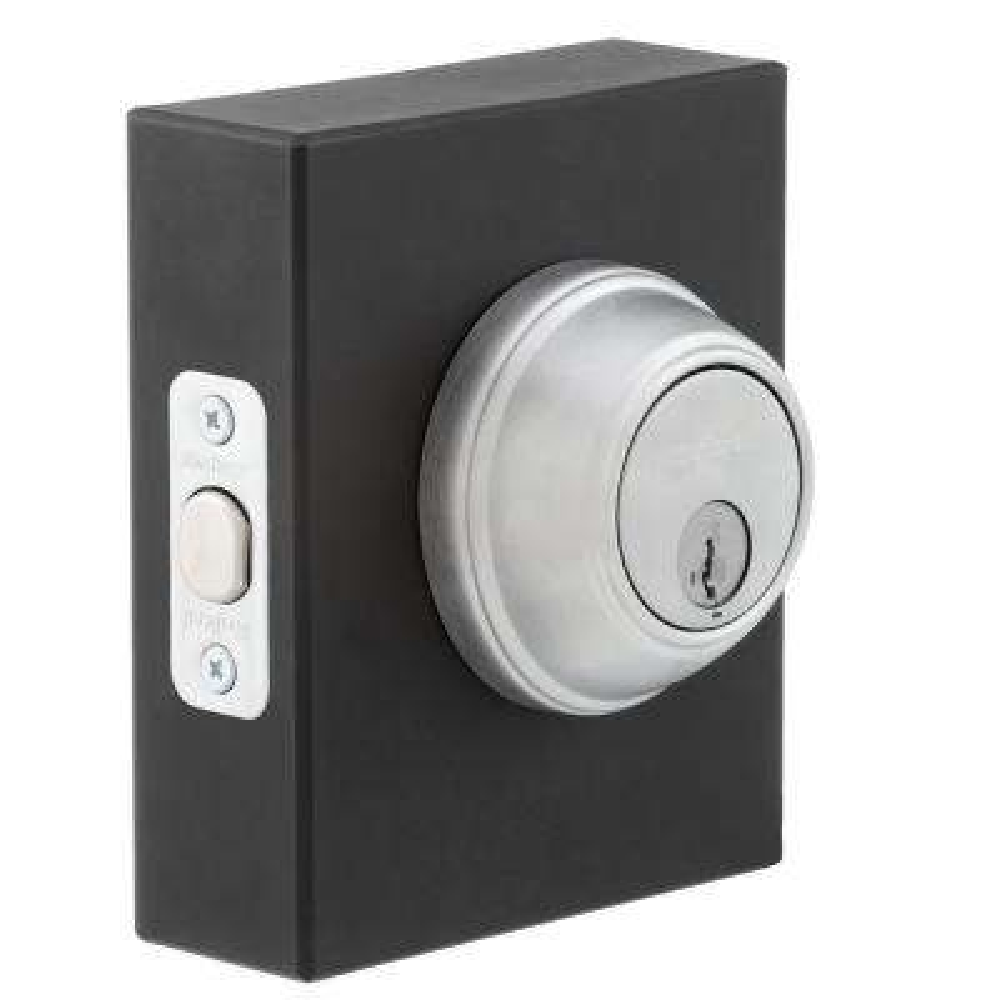 816 Series Satin Chrome Single Cylinder Key Control Deadbolt featuring SmartKey