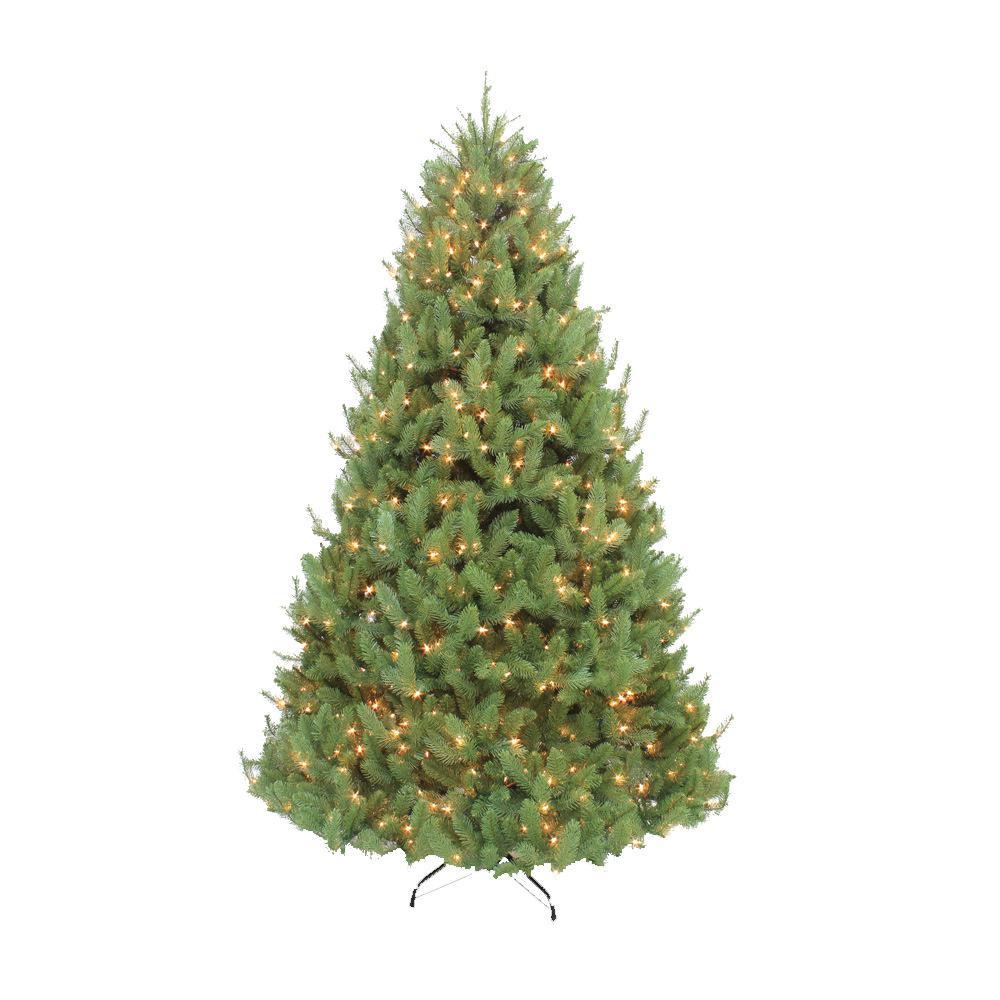 Slim 7 5 Ft Christmas Tree: Puleo International 7.5 Ft. Pre-Lit Slim Omaha Fir