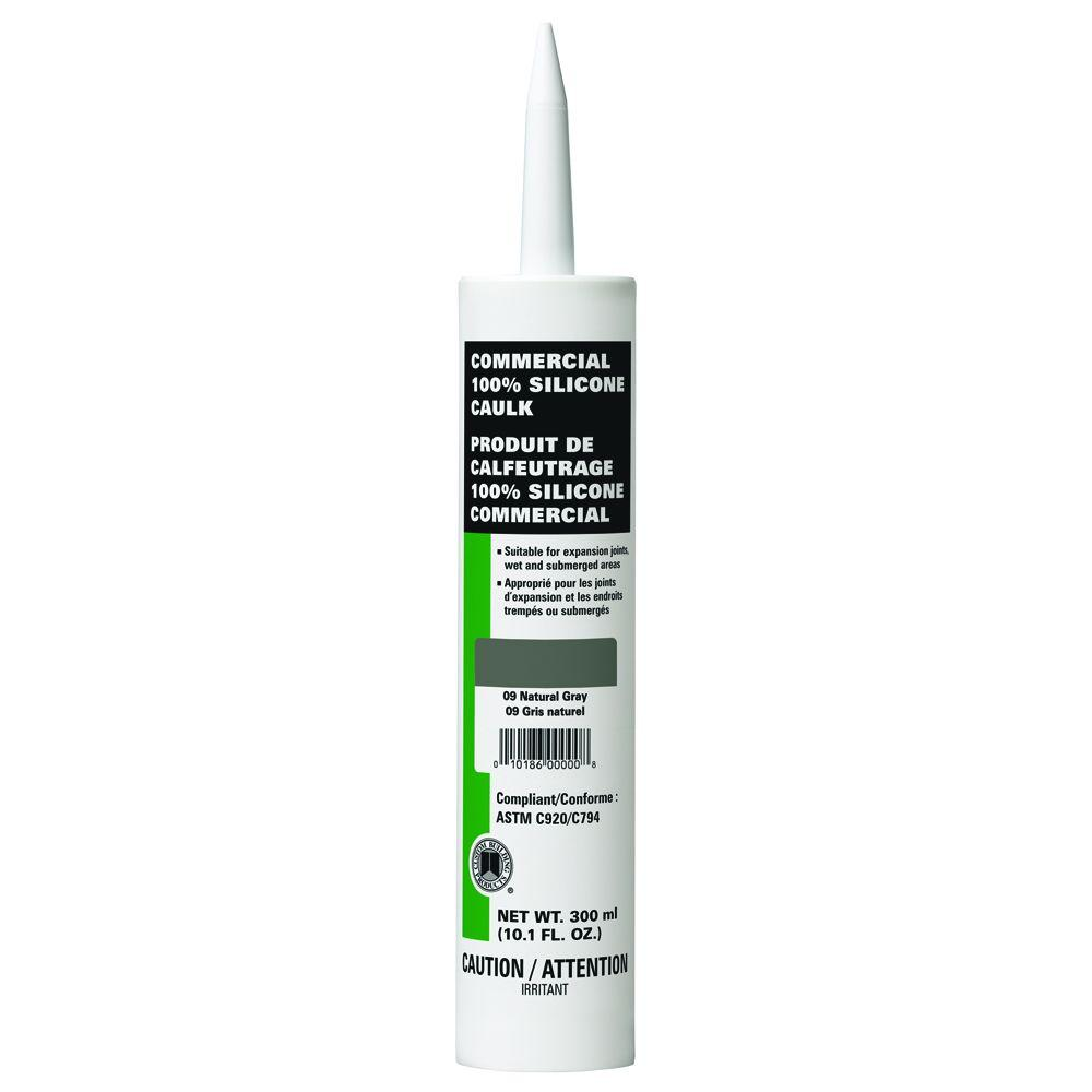 Commercial #09 Natural Gray 10.1 oz. Silicone Caulk