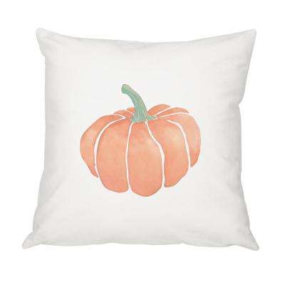 16 in. x 16 in. Harvest Pumpkin Throw Pillow