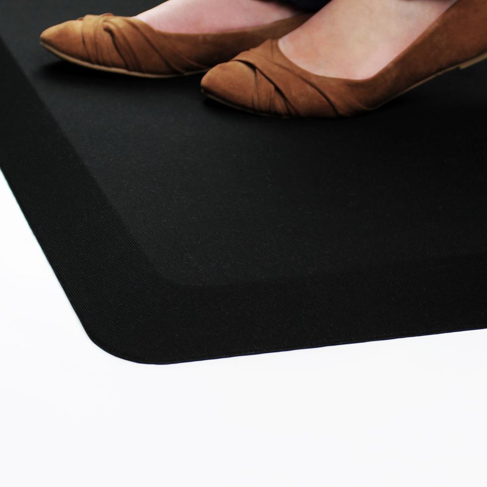 Black Standing Comfort Mat 20 in. x 32 in. Luxury Anti-Fatigue Mat