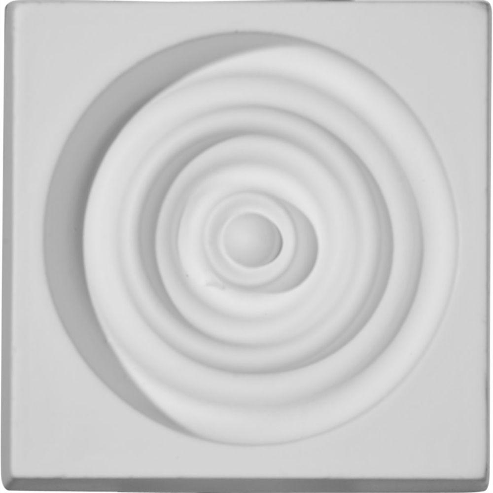 3-1/4 in. x 1-1/8 in. x 3-1/4 in. Devon Plinth Block