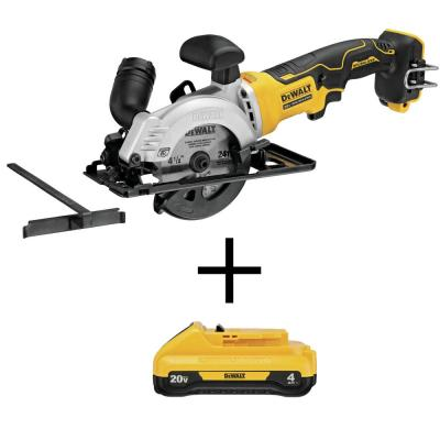 ATOMIC 20-Volt MAX Cordless 4-1/2 in. Circular Saw (Tool-Only) with Bonus 20-Volt MAX Li-Ion 4.0 Ah Compact Battery Pack