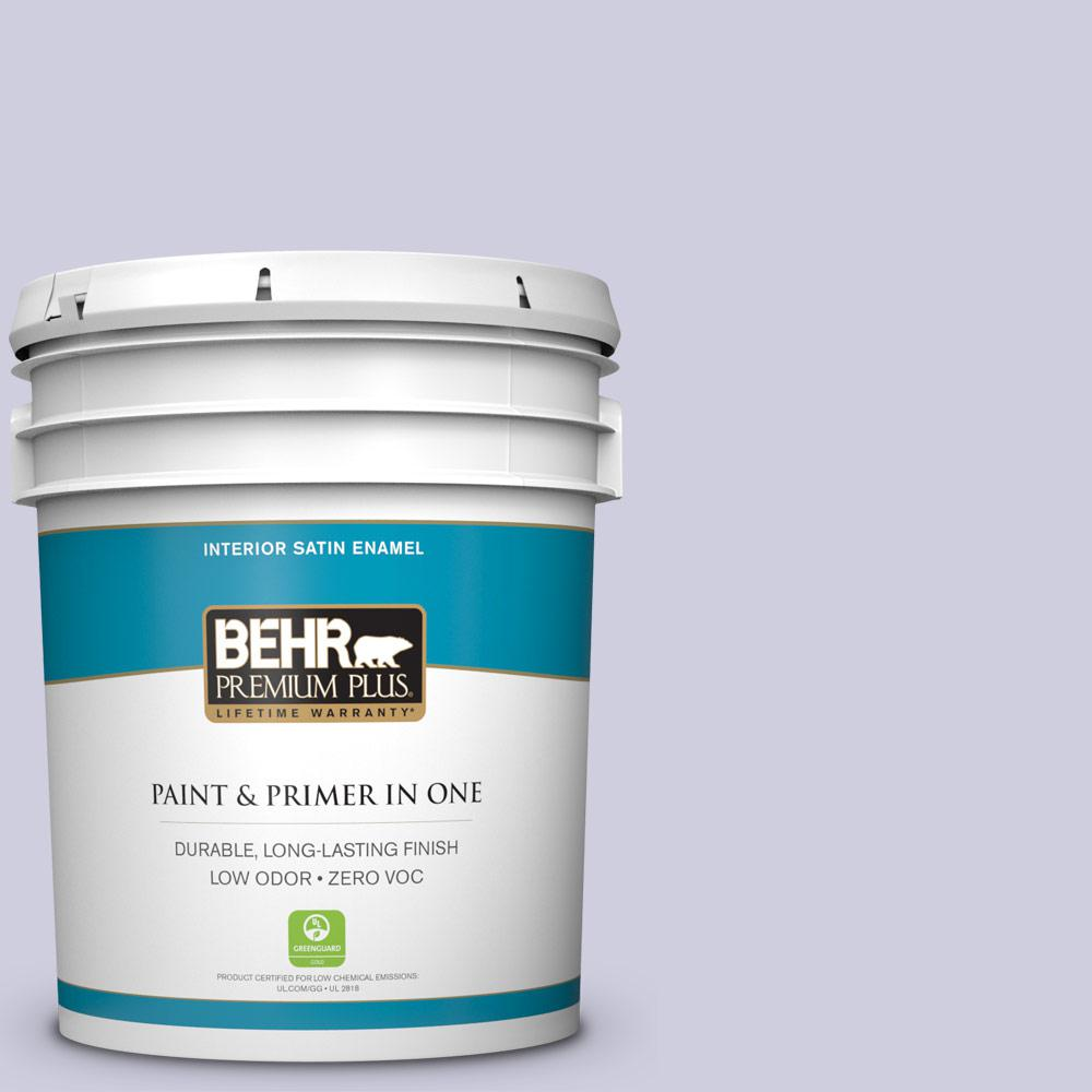 5-gal. #640C-2 Lavender Sparkle Zero VOC Satin Enamel Interior Paint