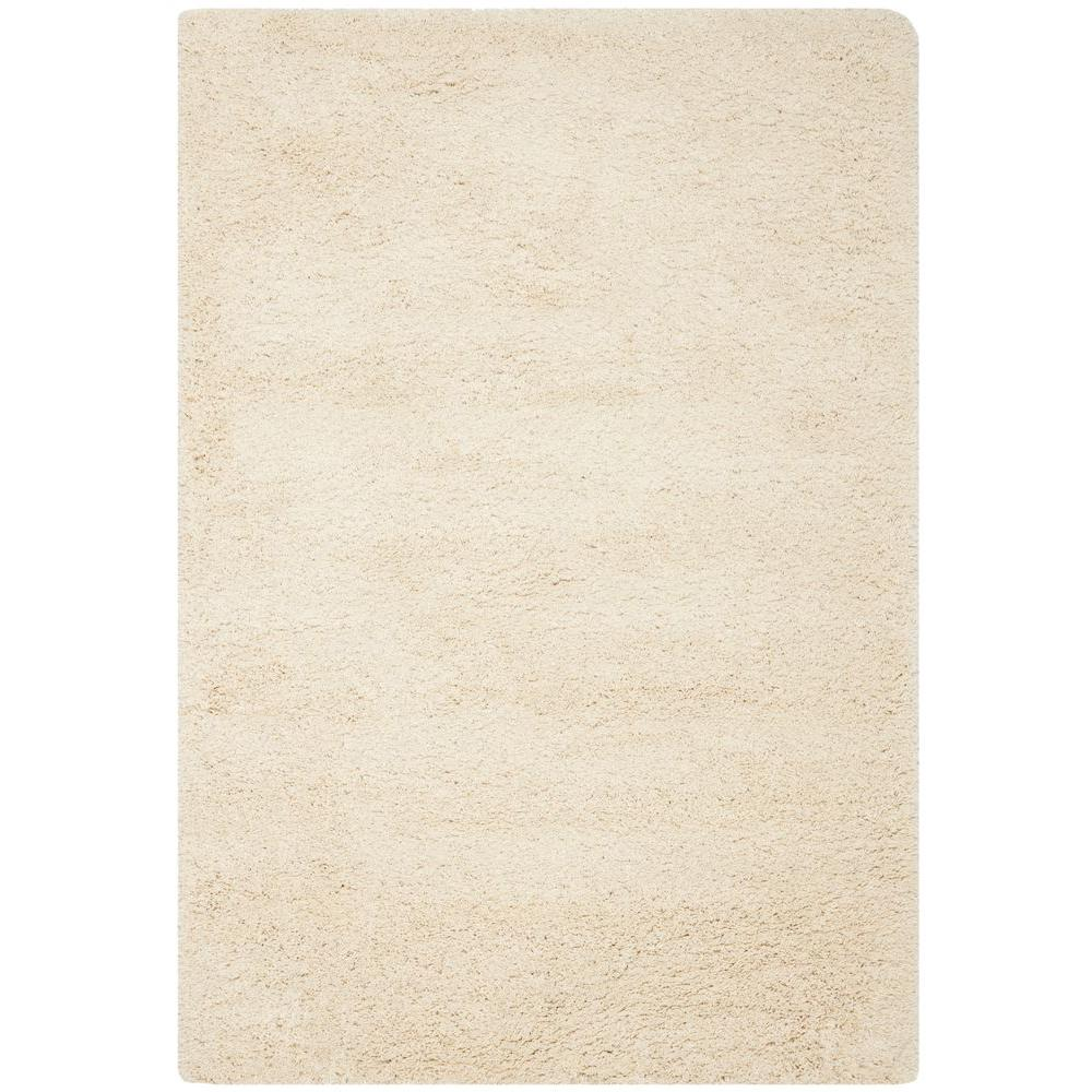 California Shag Ivory 11 ft. x 15 ft. Area Rug