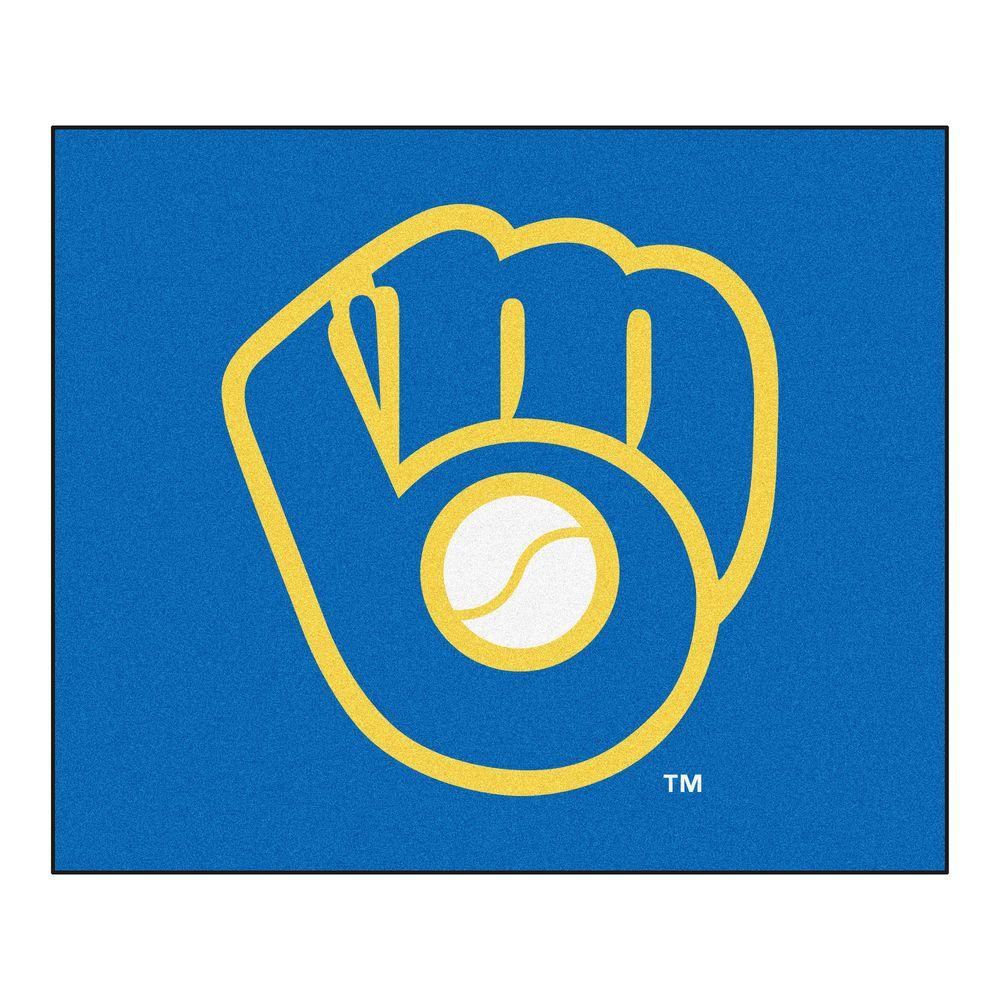 MLB Milwaukee Brewers Blue 5 ft. x 6 ft. Area Rug