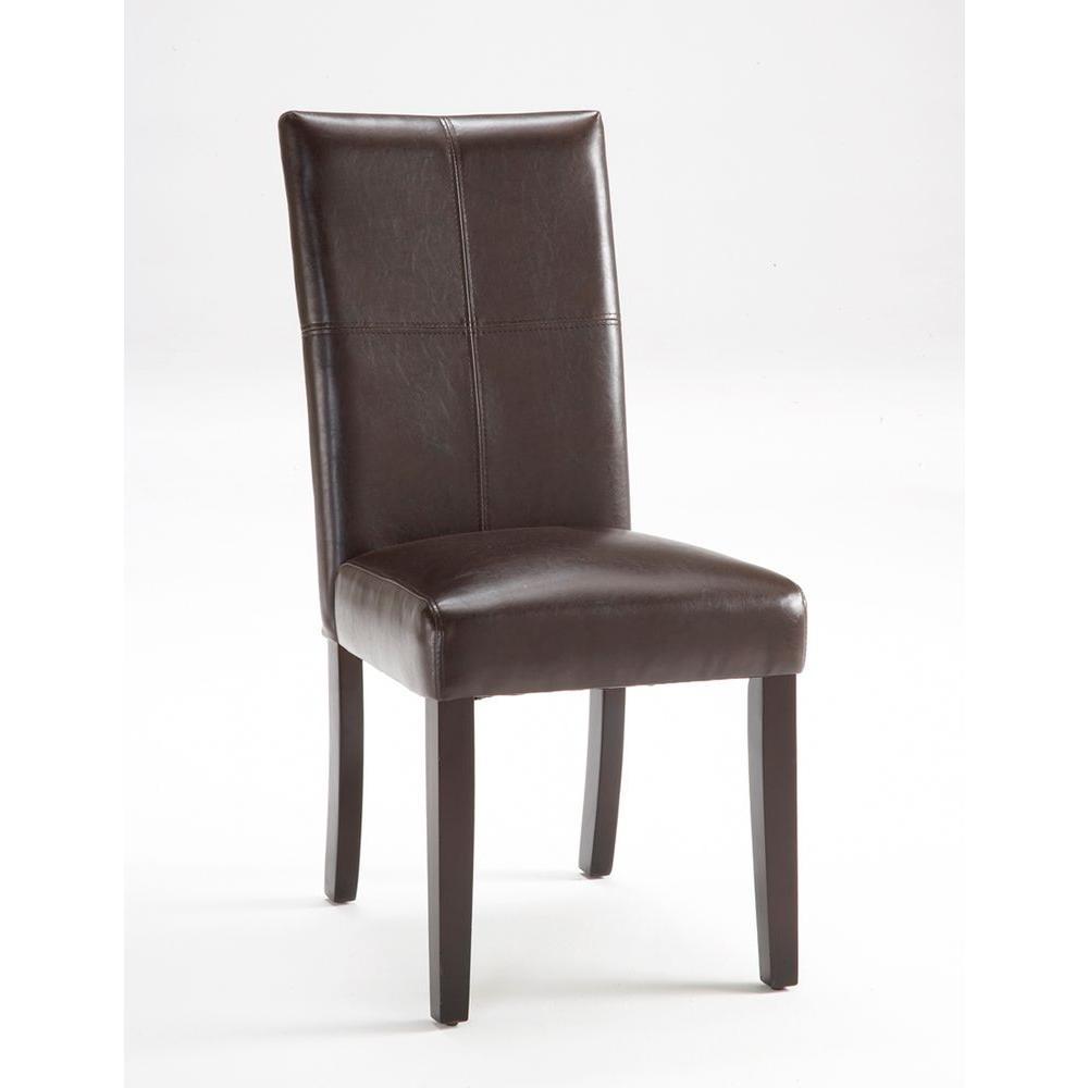 Hillsdale Furniture Monaco Matte Espresso Parson Chair