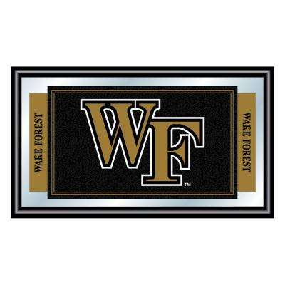 Wake Forest University 15 in. x 26 in. Black Wood Framed Mirror