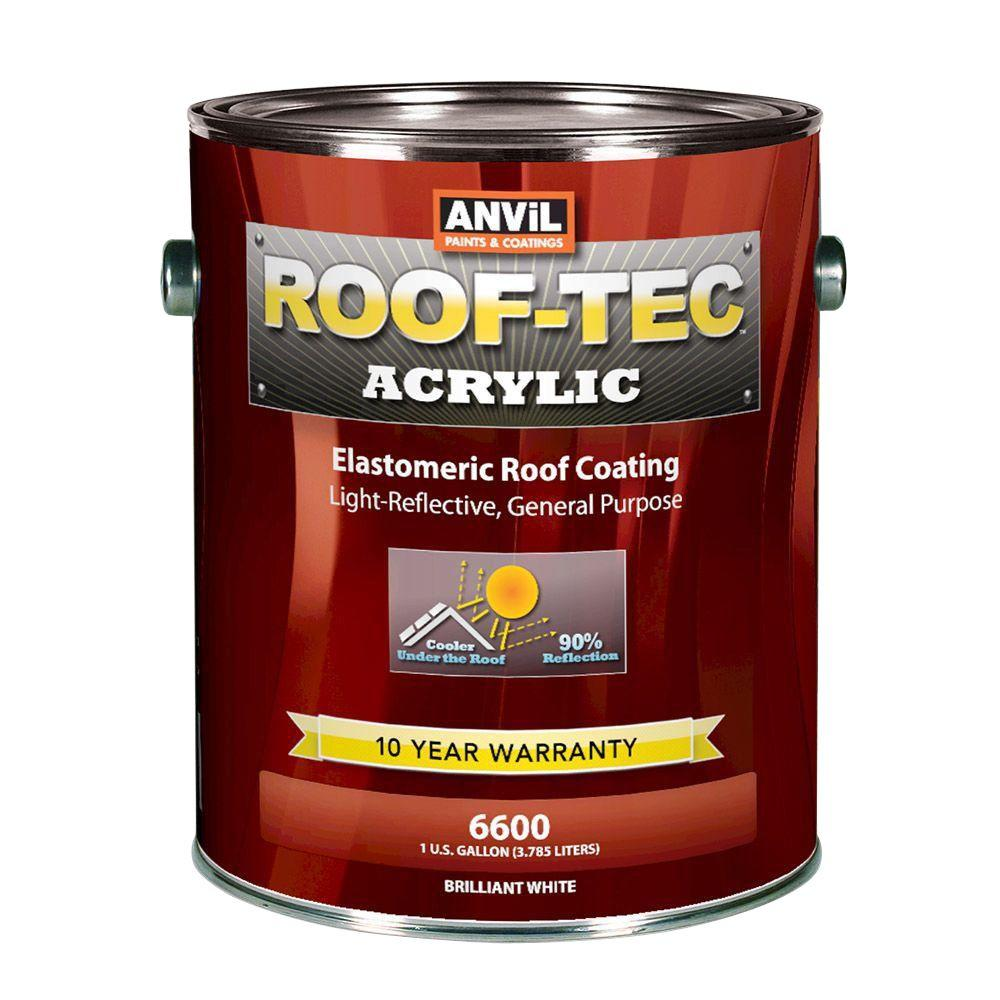 ANViL ROOF-TEC 1 Gal. Acrylic White Elastomeric Roof Coating