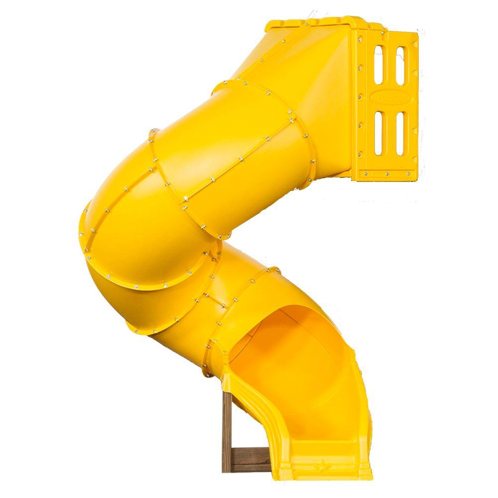 Playstar Spiral Tube Slide for 5 ft. Play Deck, Yellow Gold