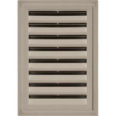 12 in. x 18 in. Rectangle Gable Vent #097 Clay