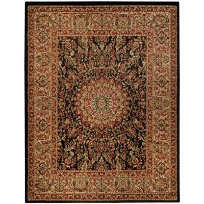 Pasha Collection Black 8 ft. x 10 ft. Area Rug