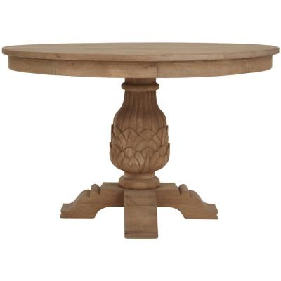 Kingsley Sandblasted Antique Natural Round Dining Table