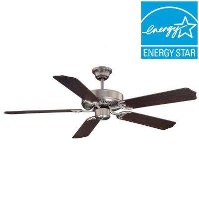 Rockies 52 in. Satin Indoor Wall Nickel Ceiling Fan