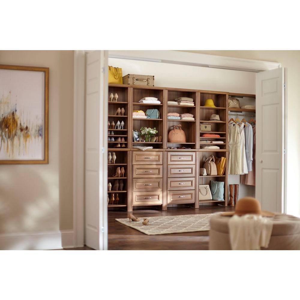 Impressions 25 in. Walnut Standard Closet Kit