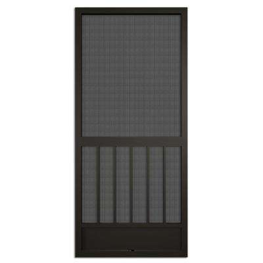 36 in. x 80 in. Westmore Bronze Aluminum Screen Door