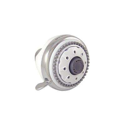 6-Spray 3.5 in. Fixed Sensations HydroSpin Showerhead in Chrome