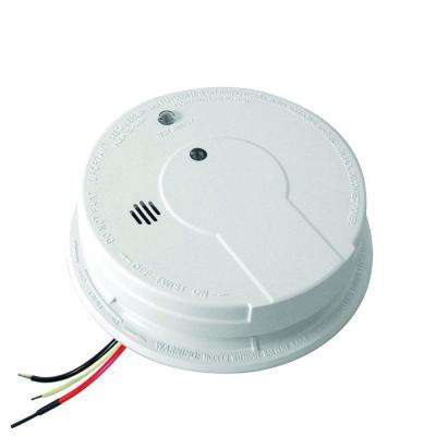 Hardwired 120-Volt Inter-Connectable Photoelectric Smoke Alarm with Battery Backup