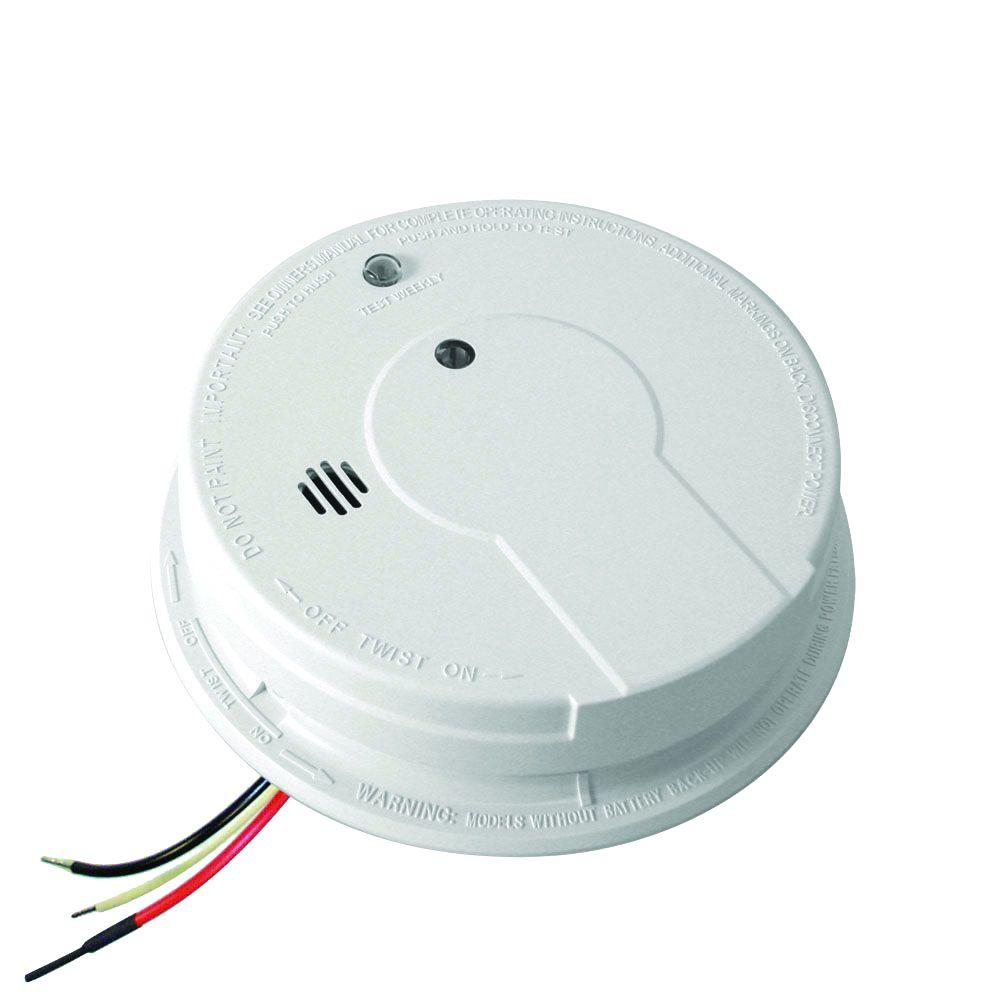 Kidde FireX Hardwire Smoke Detector with 9-Volt Battery Backup, Adapters, and Photoelectric Sensor