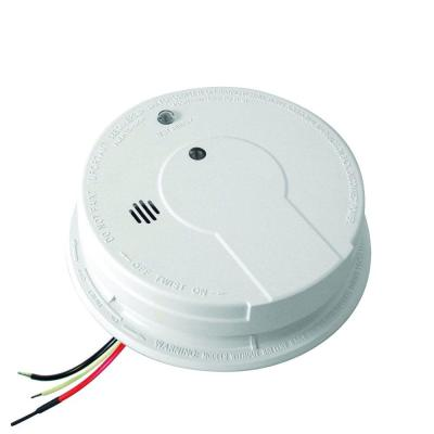FireX Hardwire Smoke Detector with 9-Volt Battery Backup, Adapters, and Photoelectric Sensor
