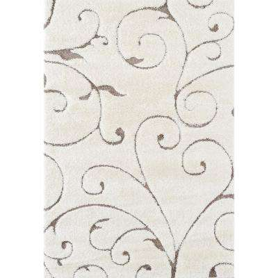 Sharin Cream Floral 3 ft. 6 in. x 5 ft. 6 in. Area Rug