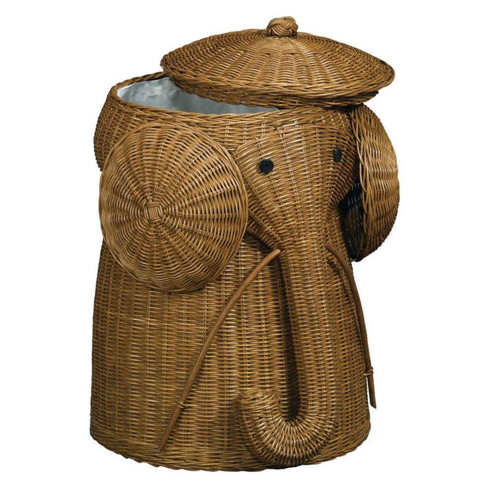 Home Decorators Collection Elephant Brown Laundry Hamper