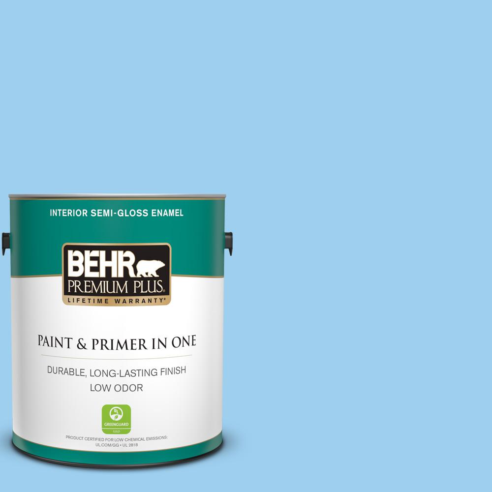 P500 3 Spa Blue Semi Gloss Enamel Low Odor Interior Paint And Primer In One