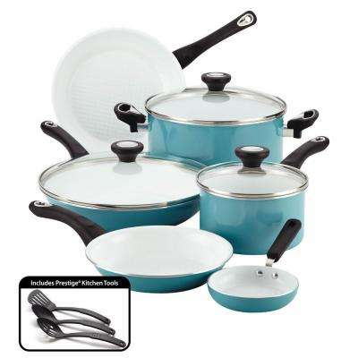 purECOok 12-Piece Aqua Cookware Set with Lids