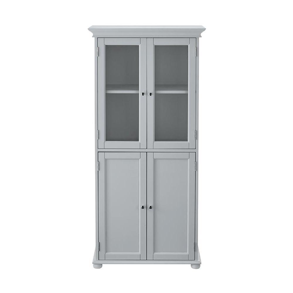 Hampton Harbor 25 in. W Linen Cabinet in Dove Grey