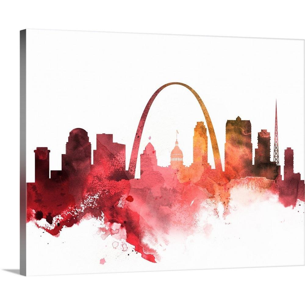 Saint Louis Missouri Watercolor Skyline Wall Art Home Decor Poster UNFRAMED