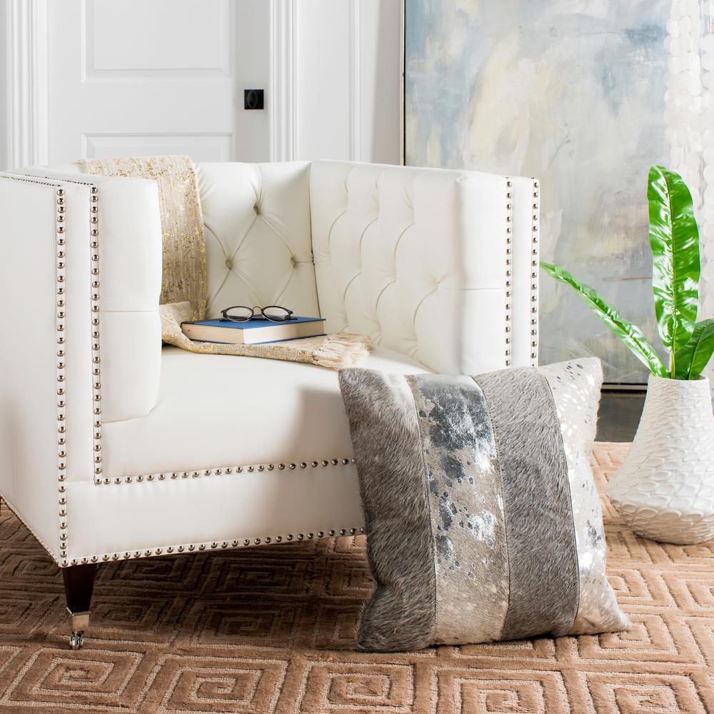 Safavieh Blair Metallic Cowhide Standard Pillow PLS230B-2020
