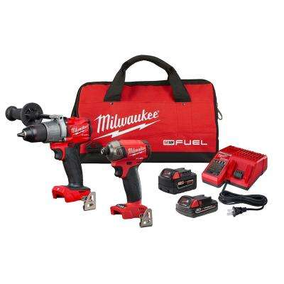 M18 FUEL 18-Volt Lithium-Ion Brushless Cordless Surge Impact Driver/Hammer Drill Combo Kit (2-Tool) with 2-Batteries