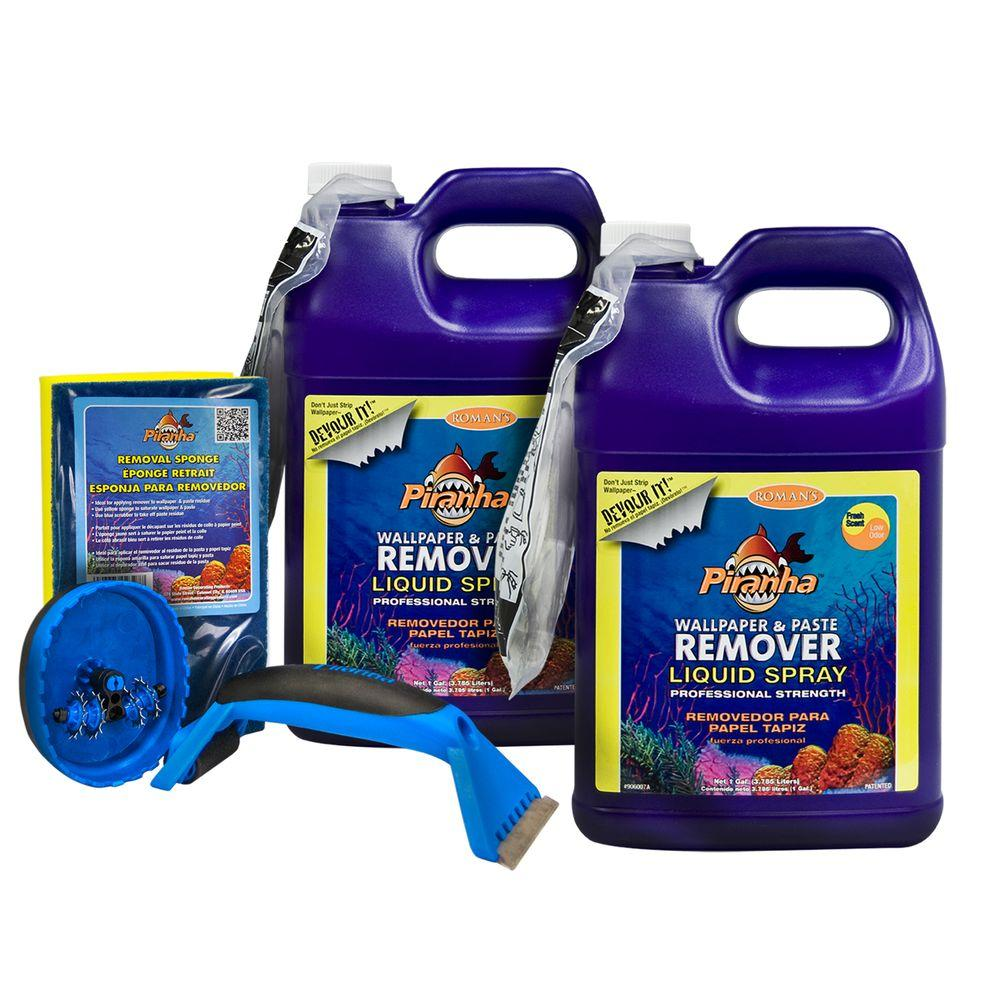 2 gal. Piranha Liquid Spray Wallpaper Removal Kit for Medium Sized