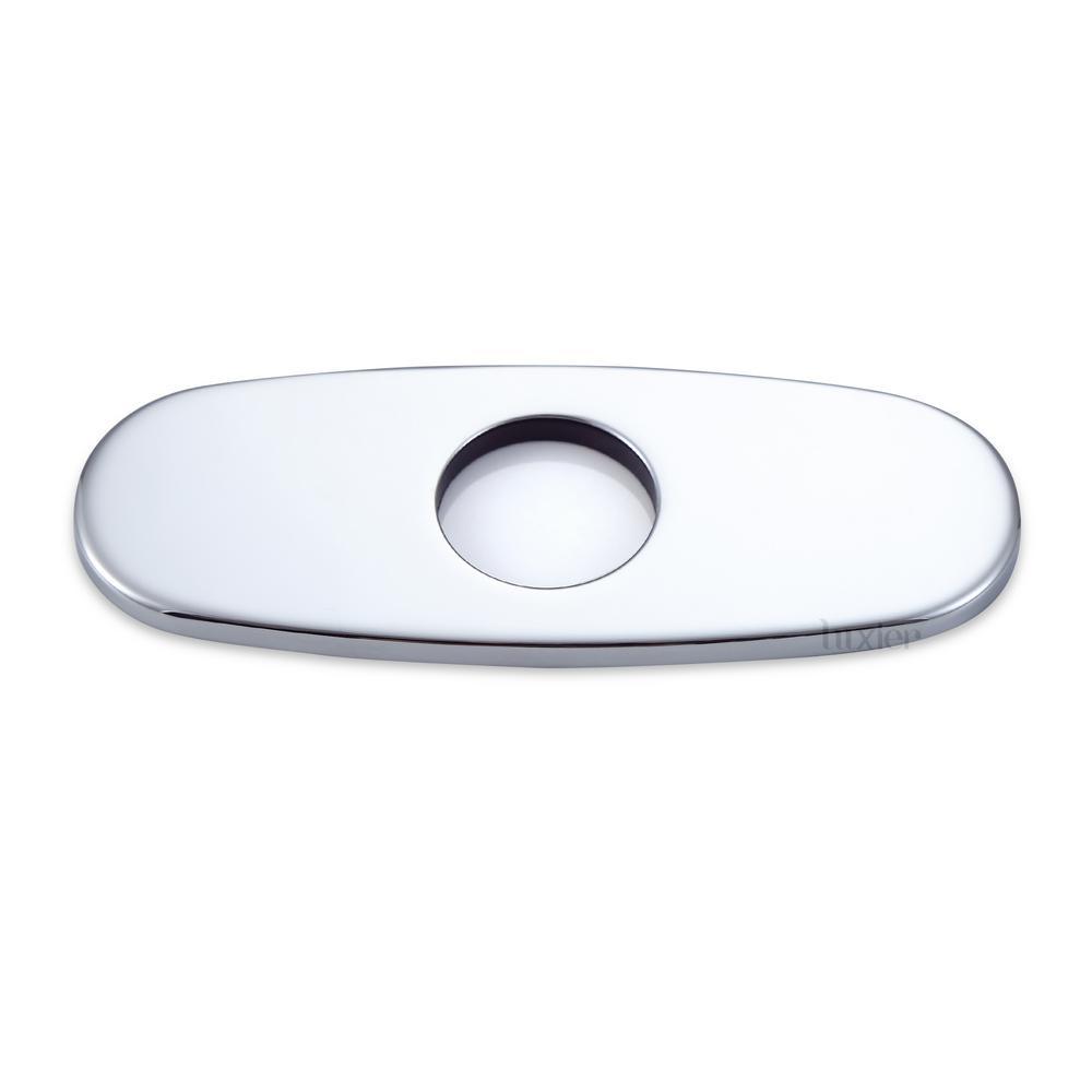 Brass Bathroom Vessel Vanity Sink Faucet Hole Cover Deck Plate Luxier 6 in