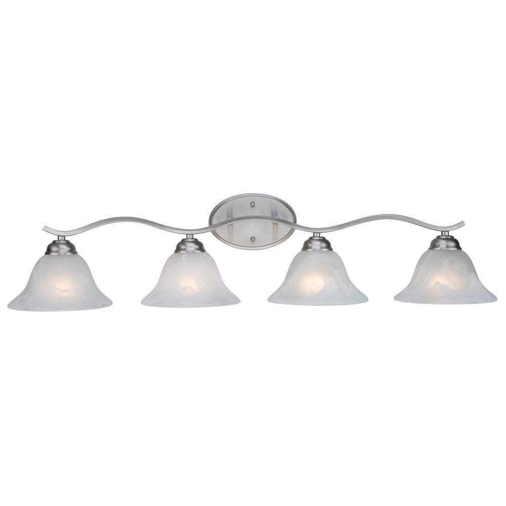 Hollyslope 4-Light Brushed nickel Bath Light