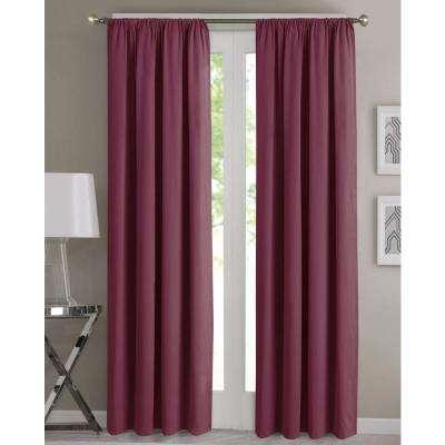 Fresh 68 in. W x 63 in. L Window Panel Pair in Maroon