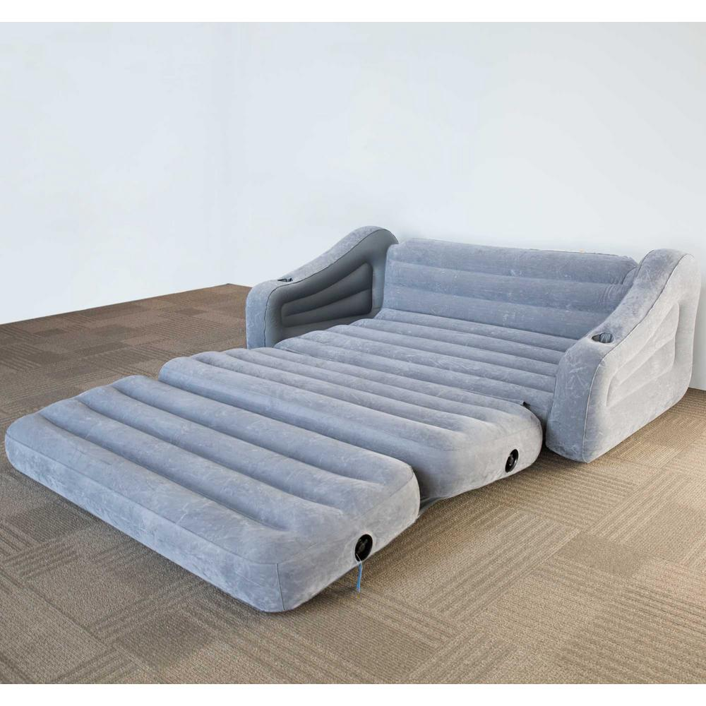 - Intex Queen Inflatable Pull-Out Sofa Air Mattress And 12-Volt