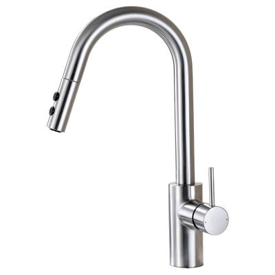 Single-Handle Pull-Down Sprayer Kitchen Faucet with 2-Function Sprayhead in Brushed Nickel