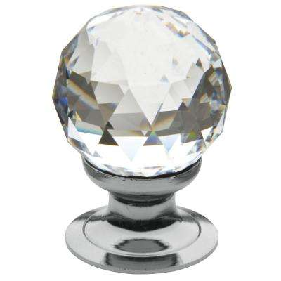 1.19 in. Polished Chrome Swarovski Crystal Knob