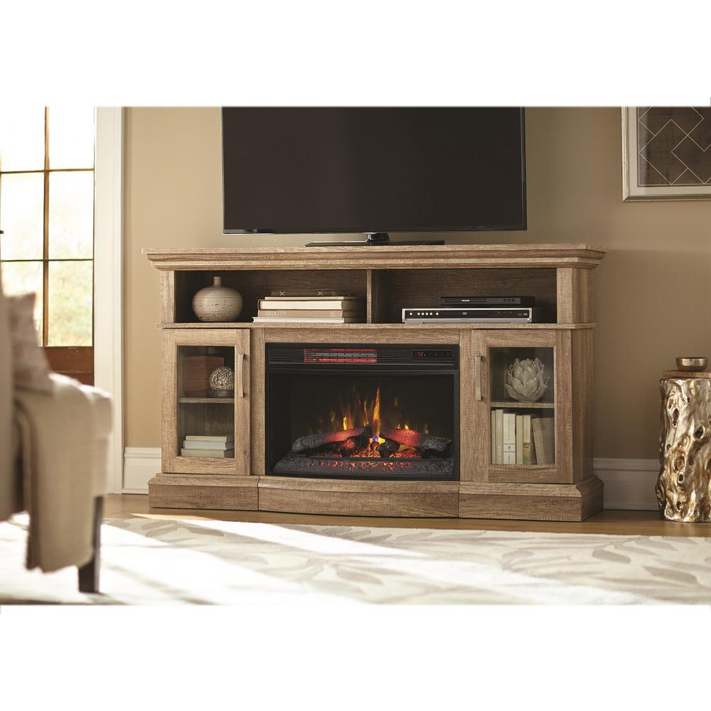 rustic tv stand electric fireplace in pine. modern  fireplace tv stands  electric fireplaces  the home depot