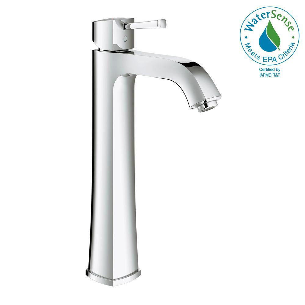 Grandera Single Hole Single-Handle Vessel Bathroom Faucet in StarLight Chrome