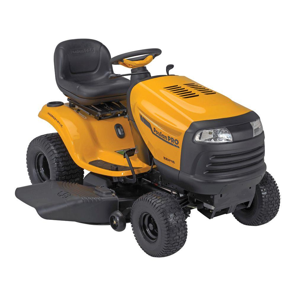 Poulan PRO PB22H46YT 46 in. 22 V-Twin HP Briggs and Stratton Hydrostatic Gas Front-Engine Riding Mower-DISCONTINUED