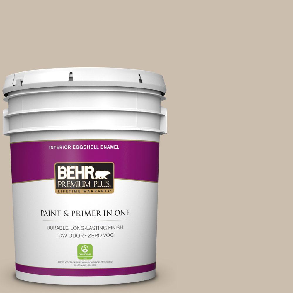 BEHR Premium Plus Home Decorators Collection 5-gal. #HDC-AC-10 Bungalow Beige Zero VOC Eggshell Enamel Interior Paint