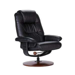 Internet #203138817. +2. Southern Enterprises Black Leather Reclining Chair ...  sc 1 st  The Home Depot & Southern Enterprises Black Leather Reclining Chair with Ottoman ... islam-shia.org