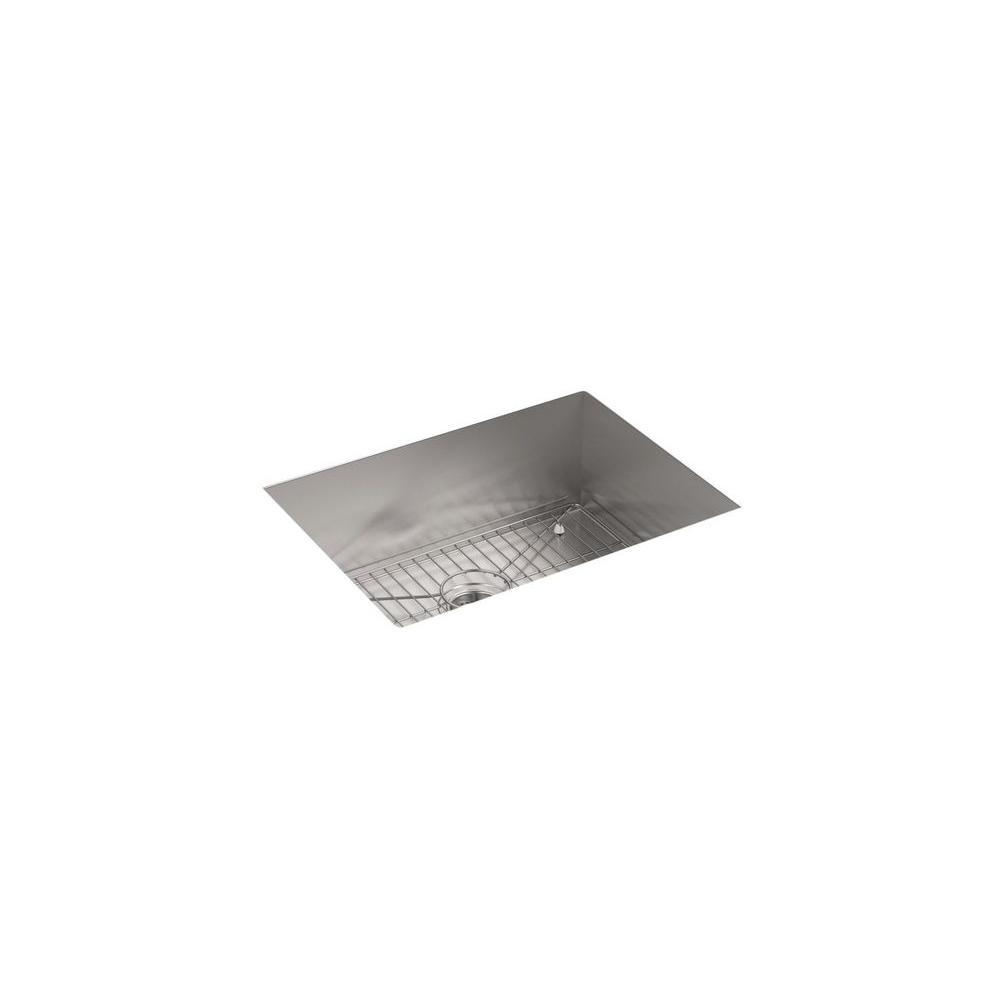 KOHLER Vault Drop-In/Undermount Stainless Steel 25 in. 4-Hole ...