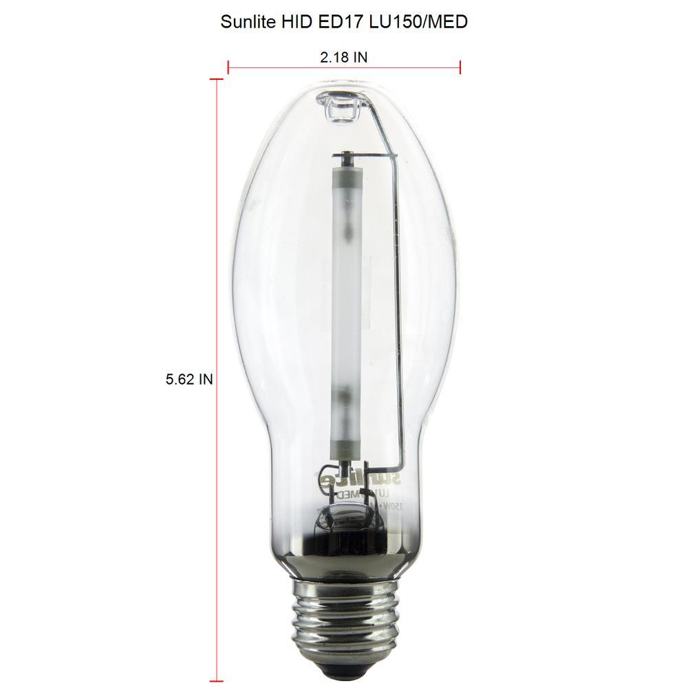 4-Pack GE LU150//MED S55 High Pressure Sodium Lamp Light Bulb 150W Medium Base