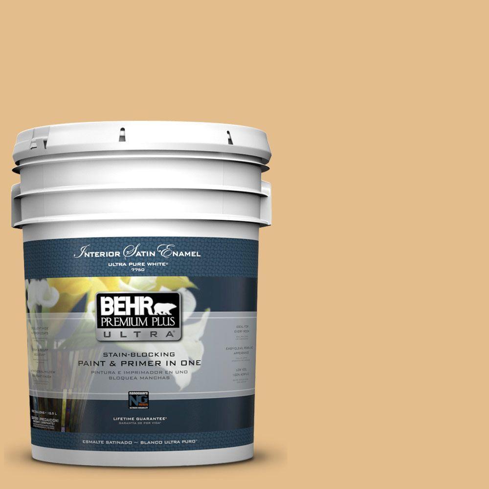 BEHR Premium Plus Ultra 5-gal. #330D-4 Warm Muffin Satin Enamel Interior Paint