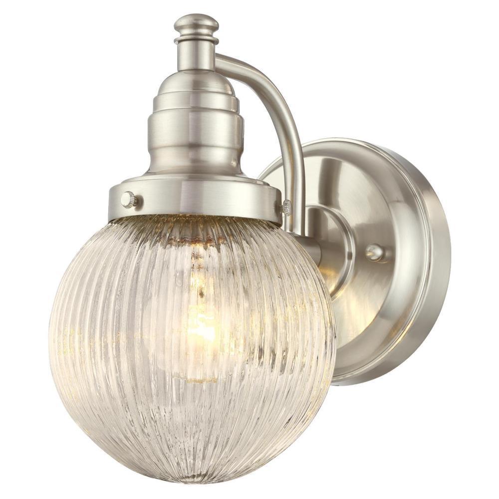 Eddystone Brushed Nickel 1-Light Outdoor Wall Mount Lantern