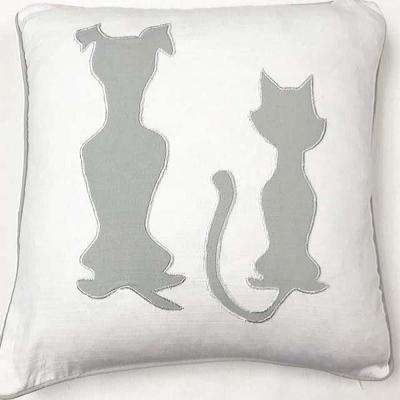 American Colors Appliqued Dog and Cat Pillow
